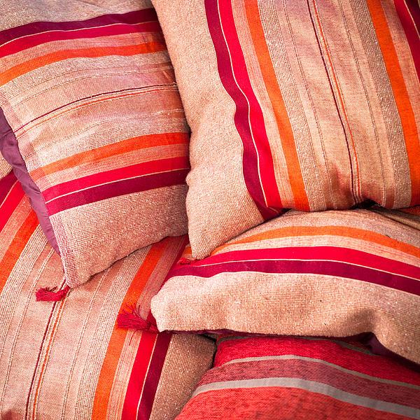 Moroccan Cushions Print by Tom Gowanlock