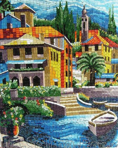 Mosaic landscape by reem derbala for Mosaic landscape design