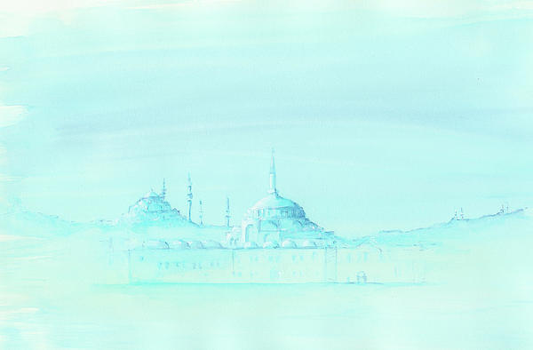 Mosques In Blue -2- Painting 