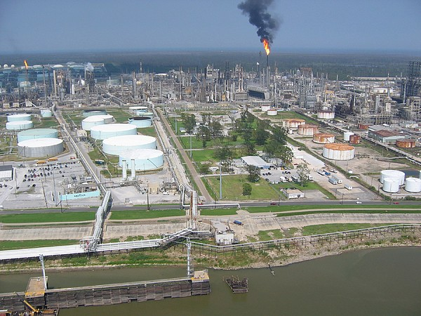 Motiva Petroleum Refinery Is Located Print by Everett