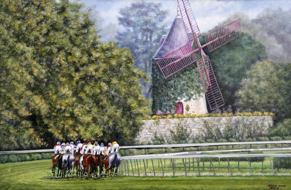 Moulin De Longchamp Print by Thomas Allen Pauly