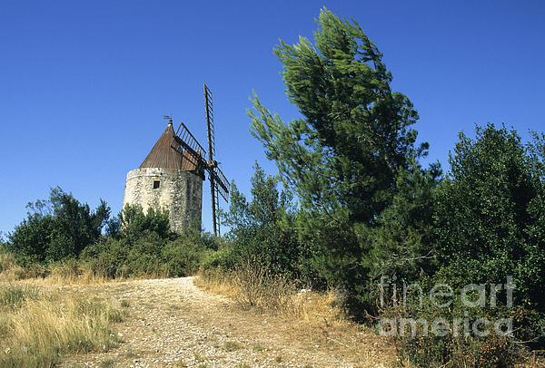 Moulin Of Daudet. Fontvieille. Provence Print by Bernard Jaubert