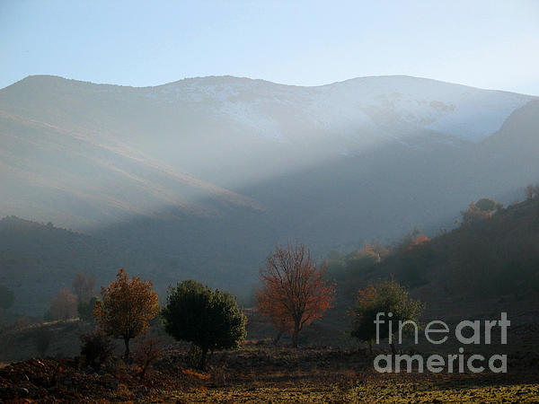 Mount Hermon In Fall Print by Issam Hajjar