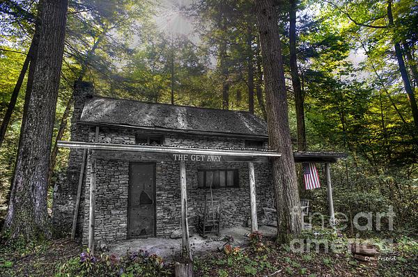 Mountain Cabin Print by Dan Friend