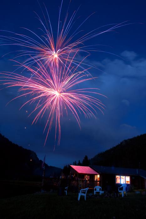 Mountain Fireworks Landscape Print by James BO  Insogna