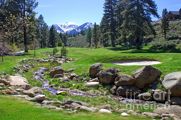 Mountain Golf Course Print by Thomas Marchessault