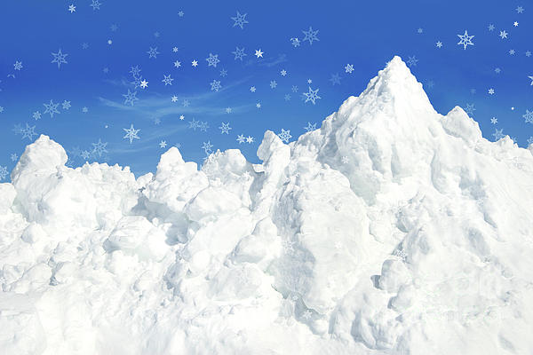 Mountain Of Snow Print by Sandra Cunningham