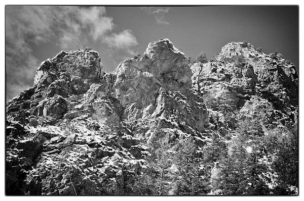 Mountain Peaks Print by Lisa  Spencer