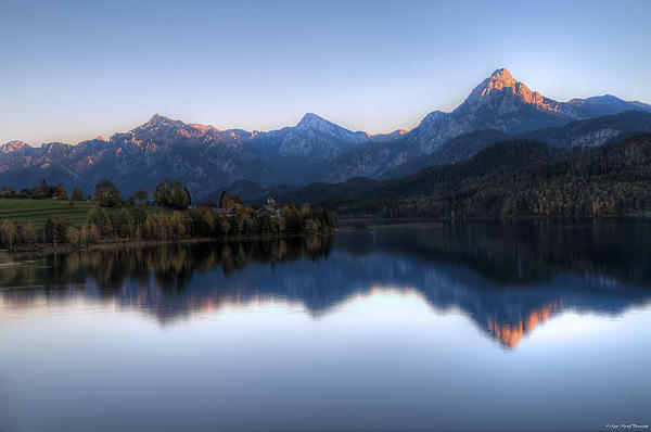 Mountain Reflections Print by Ryan Wyckoff