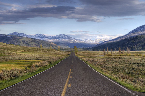 Mountain Road Print by DBushue Photography