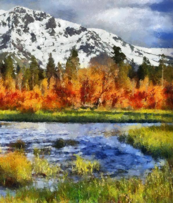 Mountain Print by Russ Harris