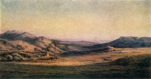 'mountainous Countryside' Painting By Edmond Barbazzona Print by Photos.com