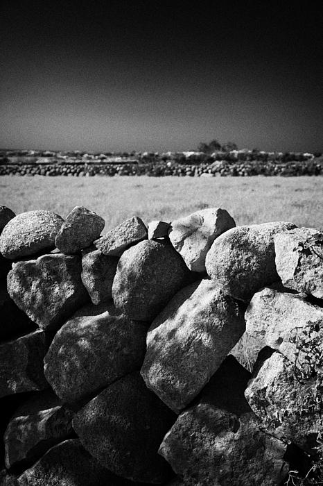 Mourne Granite Irish Dry Stone Wall Ireland Print by Joe Fox