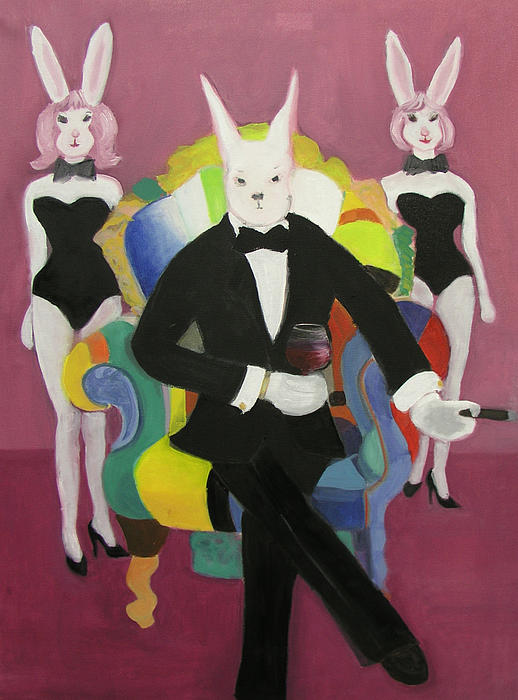 Mr. Bunny Playboy Painting  - Mr. Bunny Playboy Fine Art Print