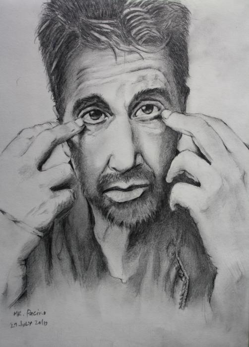 Mr. Pacino Drawing  - Mr. Pacino Fine Art Print