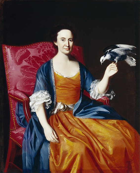 Mrs. Benjamin Hallowell Print by John Singleton Copley