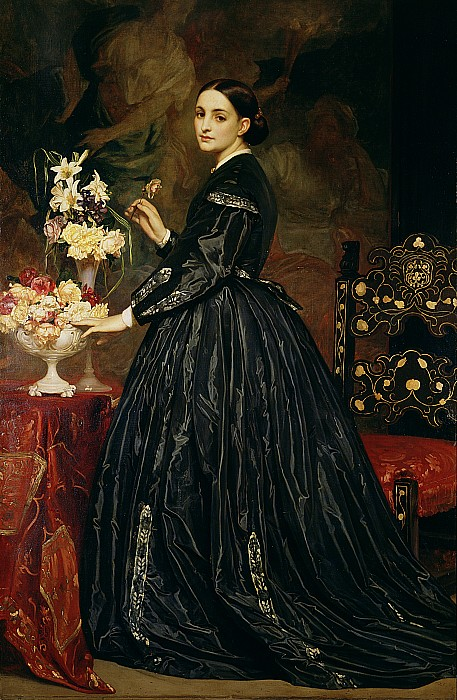 Mrs James Guthrie Print by Frederic Leighton