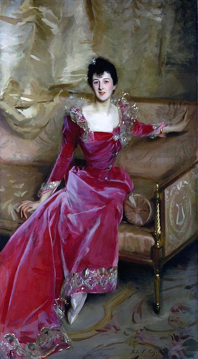 Mrs.hugh Hammersley 1892 Print by Stefan Kuhn