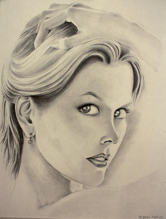Ms. Kidman Drawing  - Ms. Kidman Fine Art Print