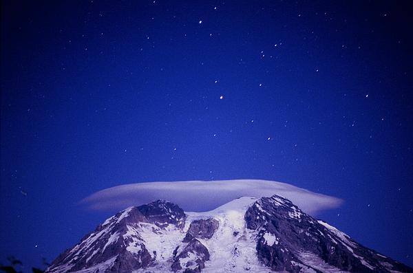 Michael Williams - Mt. Rainier With Night Clouds
