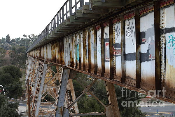 Muir Railroad Trestle In Martinez California . 7d10237 Print by Wingsdomain Art and Photography