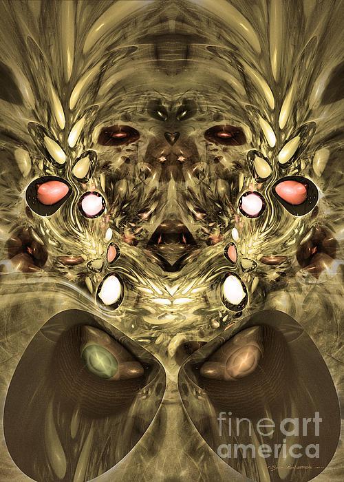 Mummy - Abstract Digital Art Print by Sipo Liimatainen