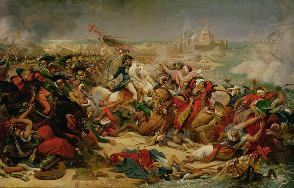 Murat Defeating The Turkish Army At Aboukir On 25 July 1799 Print by Baron Antoine Jean Gros