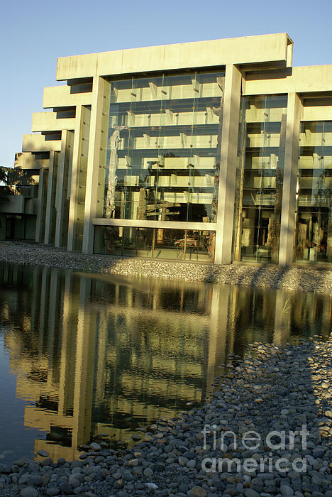 Museum Of Anthropology Reflection Vancouver Canada Print by John  Mitchell