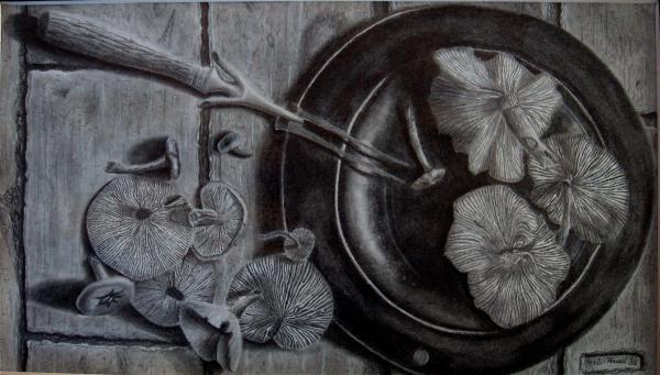 Mushroom Dinner Print by Eric Hausel