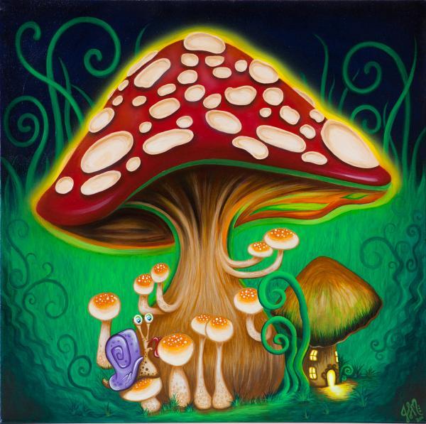 magic mushroom art -#main