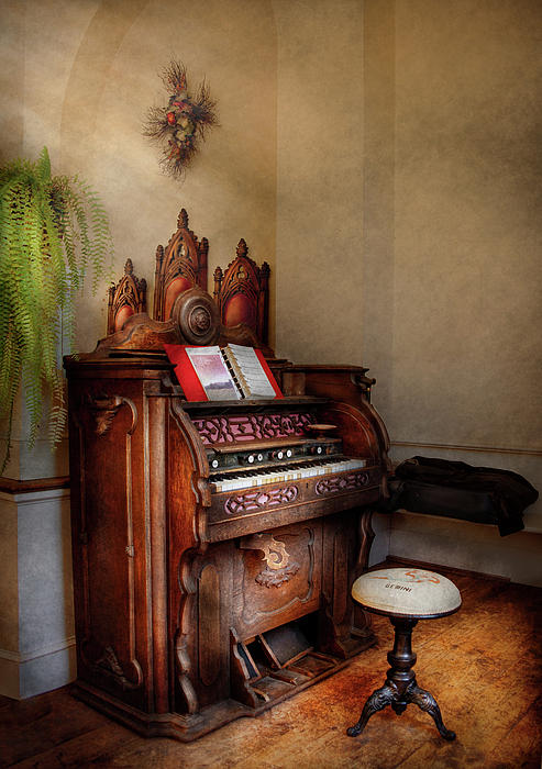 Music - Organ - Hear The Joy  Print by Mike Savad