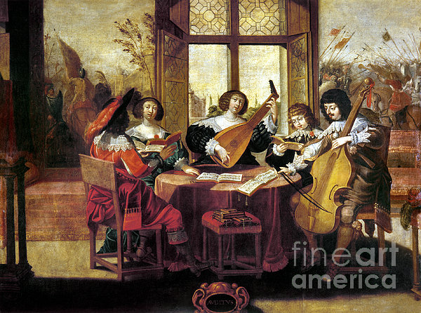 Music, 17th Century Print by Granger