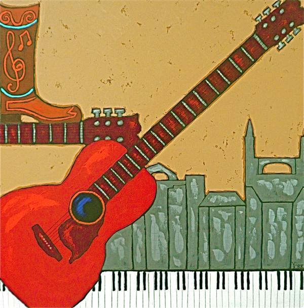 Music City Painting  - Music City Fine Art Print
