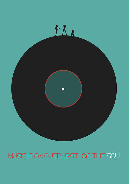Music Is An Outburst Of The Soul Poster Print by Naxart Studio