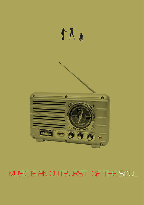 Music Of Soul Poster Print by Naxart Studio