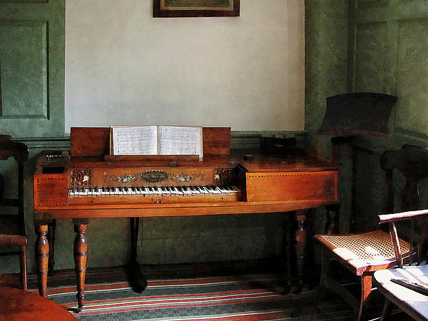 Music Room With Piano Print by Susan Savad