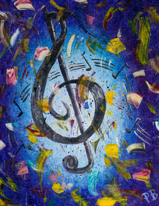 Musical Party Print by Paul Bartoszek