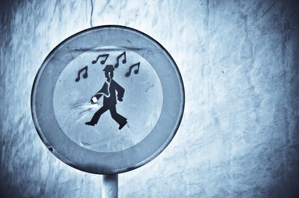 Musicman Walking Photograph  - Musicman Walking Fine Art Print