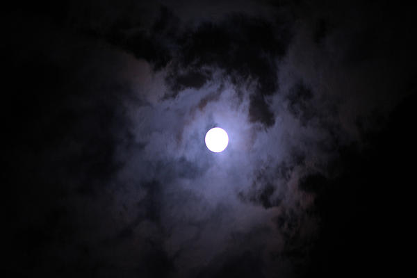 My Birthday Moon Photograph