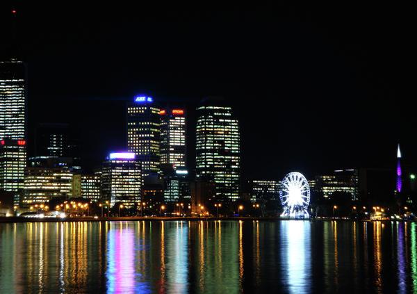 My City  Perth Print by Kelly Jones