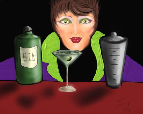 My Favorite Drink Print by Ronald Terrel