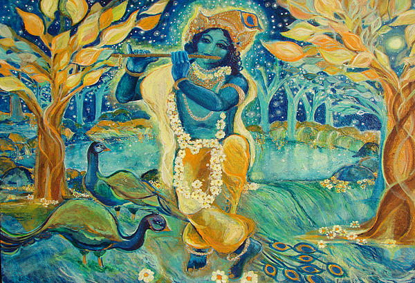 My Krishna Is Blue Print by Ashleigh Dyan Bayer