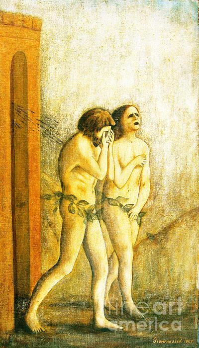 My Masaccio Expulsion Of Adam And Eve Print by Jerome Stumphauzer