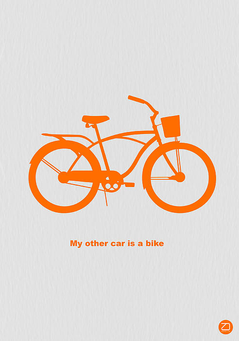 My Other Car Is Bike Print by Naxart Studio