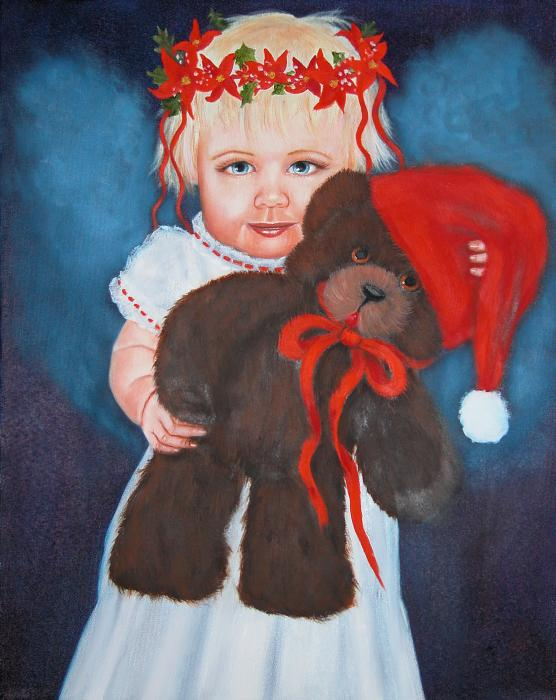 My Teddy Bear Painting  - My Teddy Bear Fine Art Print