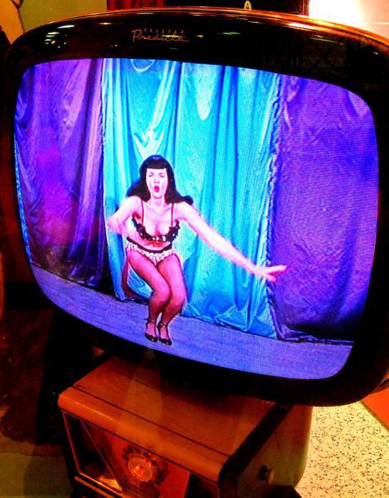 My Vegas Caesars 23 Betty Page Print by Randall Weidner