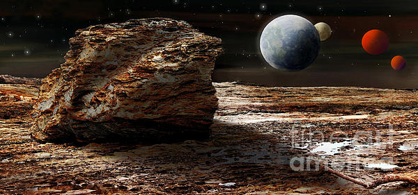 My View From Mars 2 Print by Kaye Menner