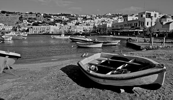 Mykonos Boats Print by Eric Tressler