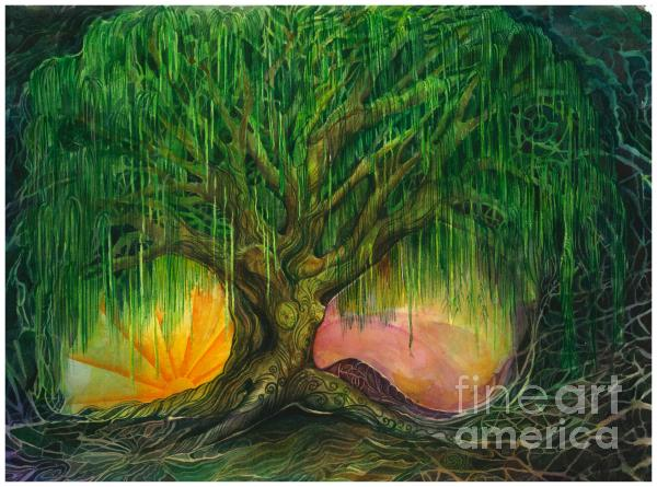 Mystical Willow Print by Colleen Koziara