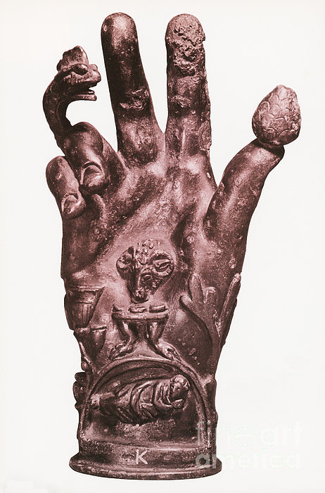 Mythological Hand Print by Photo Researchers